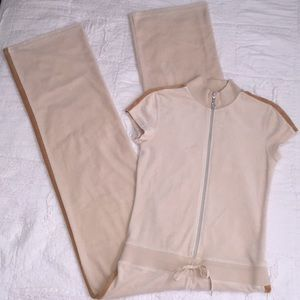 Cream & Tan J.Lo track suit